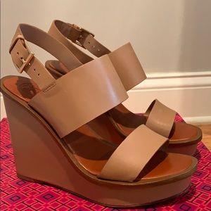 Like New Tory Burch Lexington Wedge Sandal Size 7